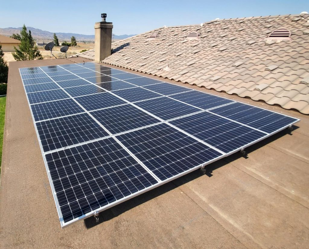 Option One Solar residential solar installation