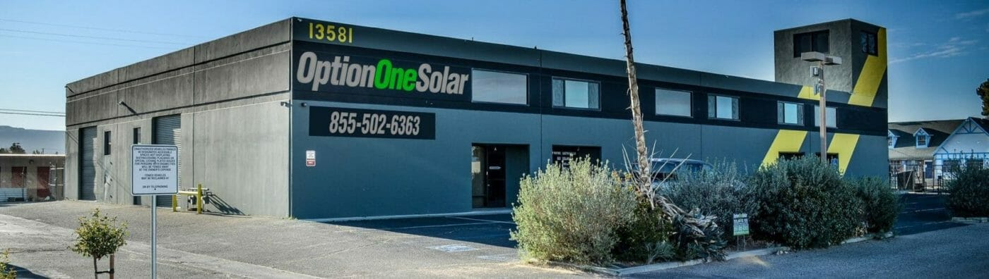 Option One Solar headquarters in Apple Valley, CA