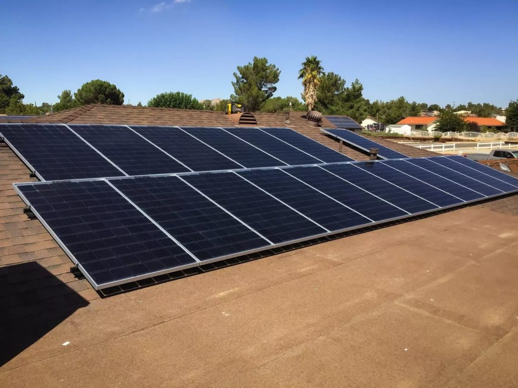 Roof solar panels done by Option One Solar