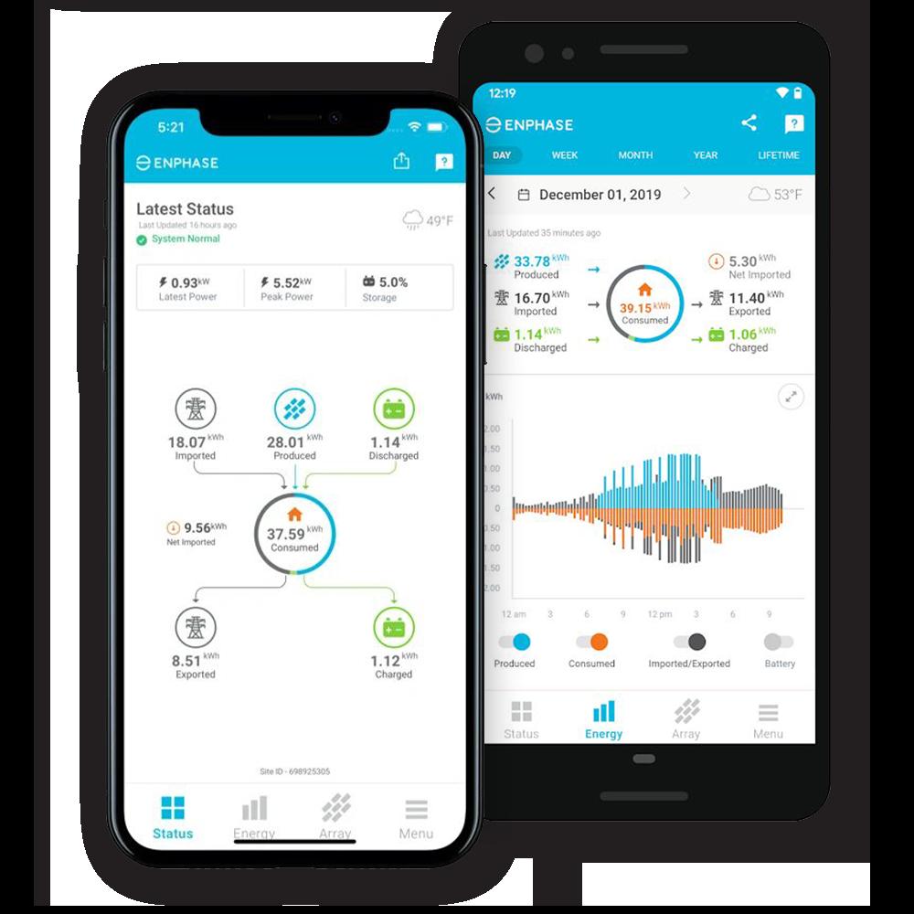 Enphase inverter monitoring app