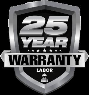 25 Year Warranty on Labor